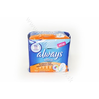 Hygienické vložky Always ultra 10ks normal plus