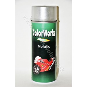 Color Works Metallic Spray strieborný 400ml*