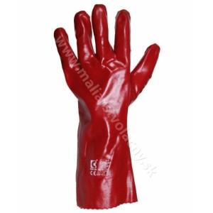 Rukavice červené technické veľkosť XXL 35cm