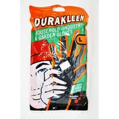 Latexové rukavice čierne L Durakleen