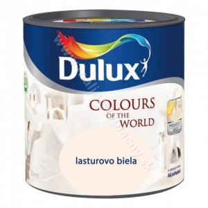 Dulux farba lastúrovo biela 2,5L