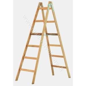 Rebrík drevený 6 radový