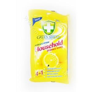 Green shield vlhčené antibakteriálne citrónové utierky 50ks
