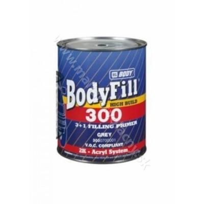 BodyFill 300 3+1 čierna 1l + Body 720 Hardener Normal 333ml*